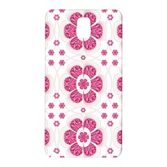 Sweety Pink Floral Pattern Samsung Galaxy Note 3 N9005 Hardshell Back Case by dflcprints