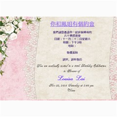 Mom s Birthday Party Invitation By Winnie Yu   5  X 7  Photo Cards   288fh5jfph8n   Www Artscow Com 7 x5 Photo Card - 8