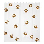 Tiger Paw Shower Curtain 66  x 72  (Large)