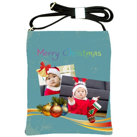 Merry Christmas By Xmas   Shoulder Sling Bag   1amcmt83gpvl   Www Artscow Com Front