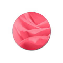 Pink Silk Effect  Magnet 3  (round) by Colorfulart23