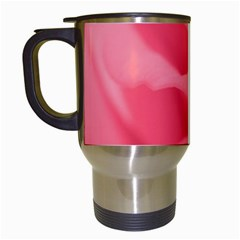 Pink Silk Effect  Travel Mug (white) by Colorfulart23