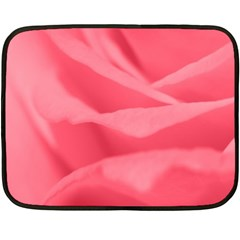 Pink Silk Effect  Mini Fleece Blanket (two Sided) by Colorfulart23