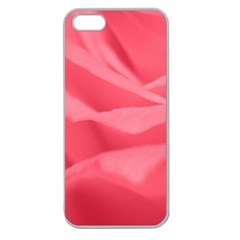 Pink Silk Effect  Apple Seamless Iphone 5 Case (clear) by Colorfulart23