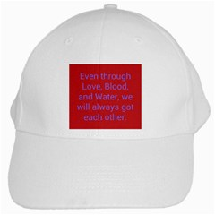 A Bff s Promise White Baseball Cap