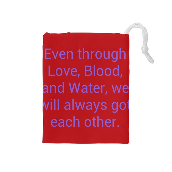 A Bff s promise Drawstring Pouch (Medium)