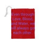 A Bff s promise Drawstring Pouch (Medium) Back