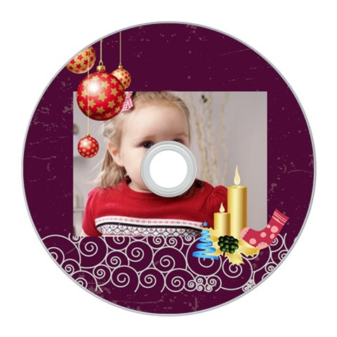 Merry Christmas By Xmas   Cd Wall Clock   Aoy9lbfxvecc   Www Artscow Com Front
