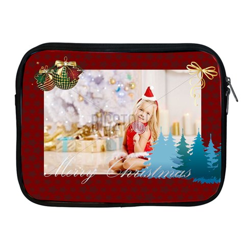 Merrry Christmas By Xmas   Apple Ipad Zipper Case   X96o781rbygv   Www Artscow Com Front