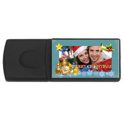 Merry Christmas By Xmas   Usb Flash Drive Rectangular (4 Gb)   Oe581jer3jl1   Www Artscow Com Front