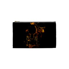 Skull Burning Digital Collage Illustration Cosmetic Bag (small) by dflcprints