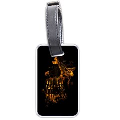 Skull Burning Digital Collage Illustration Luggage Tag (one Side) by dflcprints