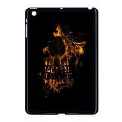 Skull Burning Digital Collage Illustration Apple iPad Mini Case (Black) by dflcprints