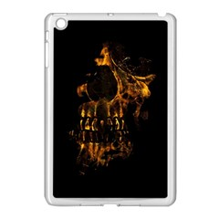 Skull Burning Digital Collage Illustration Apple Ipad Mini Case (white) by dflcprints