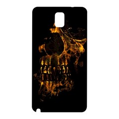 Skull Burning Digital Collage Illustration Samsung Galaxy Note 3 N9005 Hardshell Back Case by dflcprints