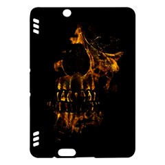 Skull Burning Digital Collage Illustration Kindle Fire Hdx 7  Hardshell Case by dflcprints