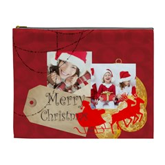 Merry Christmas By Xmas   Cosmetic Bag (xl)   Qi41snmrkly4   Www Artscow Com Front