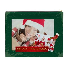 Merry Christmas By Xmas   Cosmetic Bag (xl)   Sd99s07ildu0   Www Artscow Com Back