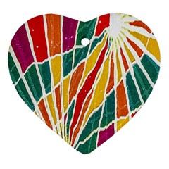 Multicolored Vibrations Heart Ornament by dflcprints