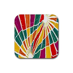Multicolored Vibrations Drink Coaster (square) by dflcprints