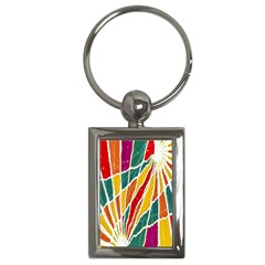 Multicolored Vibrations Key Chain (rectangle) by dflcprints