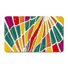Multicolored Vibrations Magnet (rectangular) by dflcprints