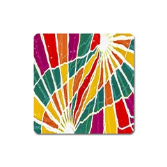 Multicolored Vibrations Magnet (square) by dflcprints