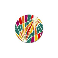 Multicolored Vibrations Golf Ball Marker by dflcprints