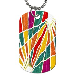 Multicolored Vibrations Dog Tag (two Sided)  by dflcprints