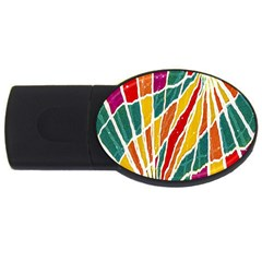 Multicolored Vibrations 2gb Usb Flash Drive (oval) by dflcprints