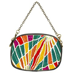 Multicolored Vibrations Chain Purse (two Sided)  by dflcprints