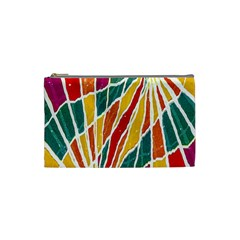 Multicolored Vibrations Cosmetic Bag (small) by dflcprints