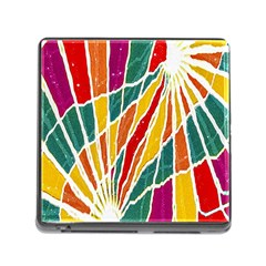 Multicolored Vibrations Memory Card Reader With Storage (square) by dflcprints