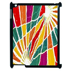 Multicolored Vibrations Apple Ipad 2 Case (black) by dflcprints