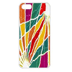 Multicolored Vibrations Apple Iphone 5 Seamless Case (white) by dflcprints