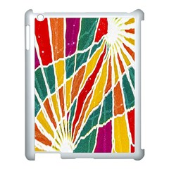 Multicolored Vibrations Apple Ipad 3/4 Case (white) by dflcprints