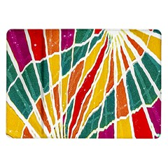 Multicolored Vibrations Samsung Galaxy Tab 10 1  P7500 Flip Case by dflcprints