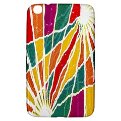 Multicolored Vibrations Samsung Galaxy Tab 3 (8 ) T3100 Hardshell Case  by dflcprints