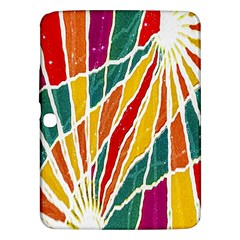 Multicolored Vibrations Samsung Galaxy Tab 3 (10 1 ) P5200 Hardshell Case  by dflcprints