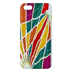 Multicolored Vibrations Iphone 5s Premium Hardshell Case by dflcprints