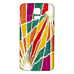 Multicolored Vibrations Samsung Galaxy S5 Back Case (white) by dflcprints