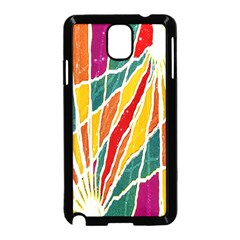 Multicolored Vibrations Samsung Galaxy Note 3 Neo Hardshell Case (black)