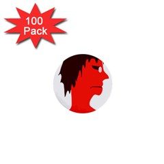 Monster With Men Head Illustration 1  Mini Button (100 Pack) by dflcprints