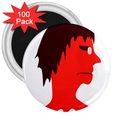 Monster With Men Head Illustration 3  Button Magnet (100 Pack) by dflcprints