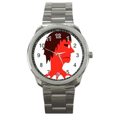 Monster With Men Head Illustration Sport Metal Watch by dflcprints