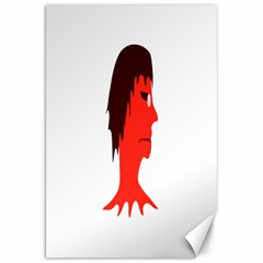 Monster With Men Head Illustration Canvas 20  X 30  (unframed) by dflcprints