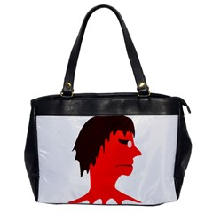Monster with Men Head Illustration Oversize Office Handbag (One Side) by dflcprints