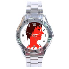 Monster With Men Head Illustration Stainless Steel Watch by dflcprints