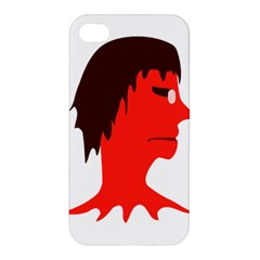 Monster With Men Head Illustration Apple Iphone 4/4s Premium Hardshell Case by dflcprints