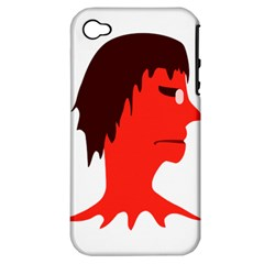 Monster With Men Head Illustration Apple Iphone 4/4s Hardshell Case (pc+silicone) by dflcprints